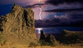 Молния над побережьем Чёрного моря, Крым стоковые фотографии rf
