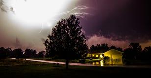 Молния nighttime Стоковое Изображение RF