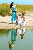 Модные девушки Стоковые Фотографии RF