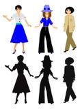 модные женщины Стоковые Фотографии RF