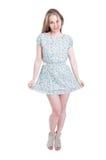Модные молодые платье и пятки женщины вкратце Стоковое фото RF