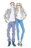 Модные человек и женщина Стоковая Фотография RF