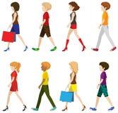 Модные люди идя без сторон Стоковые Фотографии RF