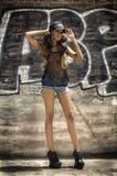 Модный Афро-американский модельный танцор актрисы Стоковое фото RF