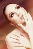 модный женский портрет Стоковые Изображения