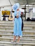 Модный парад платья женщины винтажный Стоковое Фото