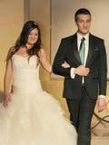 Модный парад свадьбы Стоковое Фото