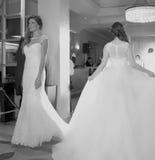 Модный парад свадьбы Стоковые Изображения