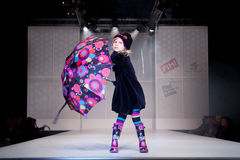 модный парад детей Стоковое Изображение