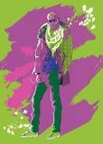 Модный парень иллюстрация вектора