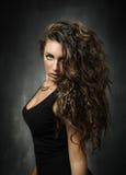Модный портрет для девушки стоковые фотографии rf