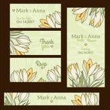 Модный шаблон карточки приглашения свадьбы с Стоковое фото RF