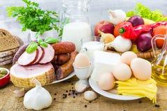 Молокозавод мяса продуктов бакалеи разнообразия состава Стоковые Изображения RF
