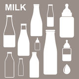 Молоко. Бутылка бесплатная иллюстрация