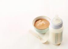 молоко бутылки младенца мое портфолио, котор нужно приветствовать Стоковое Изображение