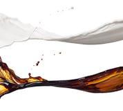 Молоко и кофе брызгают Стоковые Фотографии RF