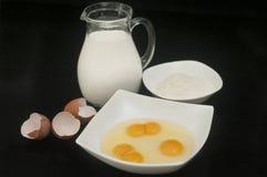 Молоко и мука Стоковые Изображения RF