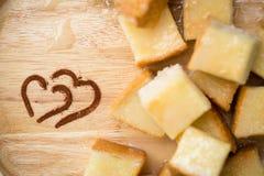 Молоко и сахар заполнения масла здравицы Стоковое Изображение RF