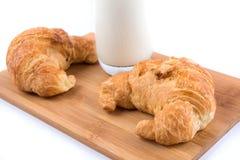 молоко круасантов Стоковое Изображение RF