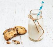 молоко печений бутылки Стоковые Изображения RF