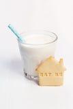 молоко печенья Стоковые Фото