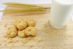 молоко печенья Стоковые Изображения RF