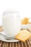 молоко стекла печений Стоковое фото RF