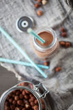 Молоко фундука шоколада Стоковые Фотографии RF
