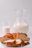 молоко хлеба Стоковое Изображение
