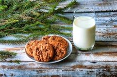 молоко santa печений Стоковые Изображения RF
