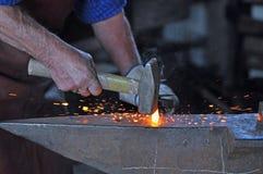 Молоток и наковальня Стоковое Фото