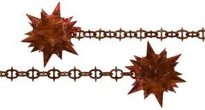 Молоток метеора ржавчины с spiky цепью бесплатная иллюстрация