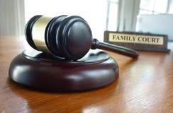 Молоток суда по семейным делам Стоковые Фотографии RF