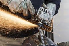 Молоть металла Стоковое Фото