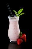 Молочный коктейль клубники Стоковые Фото