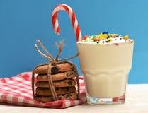 Молочный коктейль с красочными конфетами и печеньями Стоковые Изображения RF