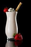 Молочный коктейль шоколада клубники Стоковое Фото