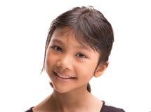 Молодая азиатская портретная живопись v девушки Стоковые Фотографии RF