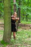 Молодая дама эльф с длинным смычком Стоковое Изображение