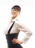 Молодая бизнес-леди с стеклами стоковая фотография