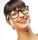 Молодая бизнес-леди с стеклами стоковые фото