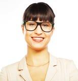Молодая бизнес-леди с стеклами стоковые изображения
