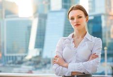 Молодая бизнес-леди Стоковое фото RF