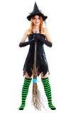 Молодая ведьма брюнет стоковая фотография rf