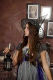 Молодая ведьма Стоковое Фото