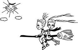 Молодая ведьма Иллюстрация штока