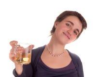 Молодая взрослая женщина с короткими волосами на белой предпосылке в различных представлениях, и различные выражения лица Не изол Стоковое фото RF