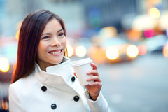 Молодая городская профессиональная бизнес-леди Нью-Йорк Стоковое Изображение RF