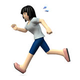 Молодая женщина бежит Стоковые Фотографии RF