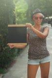 Молодая женщина битника Outdoors Стоковая Фотография RF